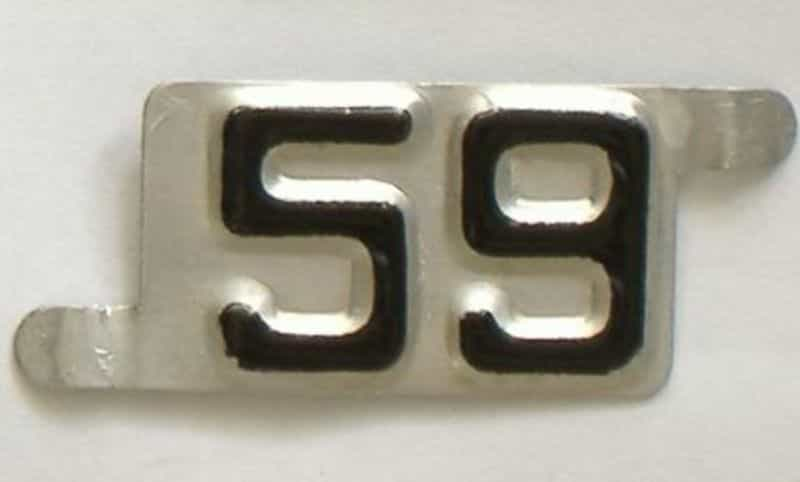1959 NE license plate for sale