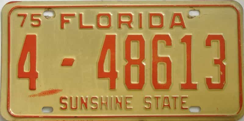 1975 Florida license plate for sale