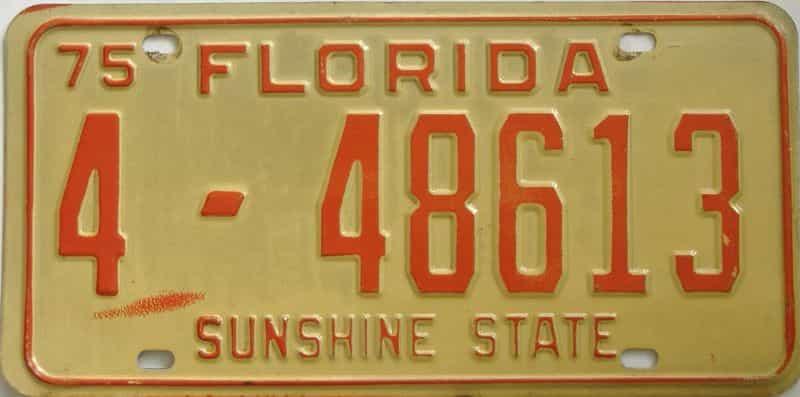 1975 FL license plate for sale
