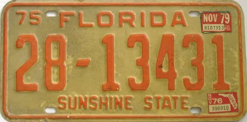 1979 Florida license plate for sale