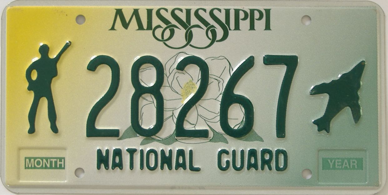 Mississippi (Military) license plate for sale