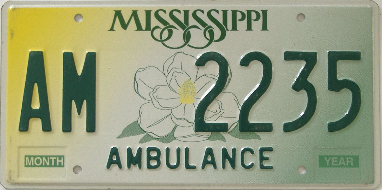 Mississippi (Non Passenger) license plate for sale