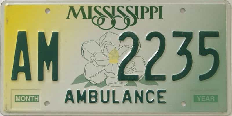 Mississippi (Non Passenger) license plate for sale