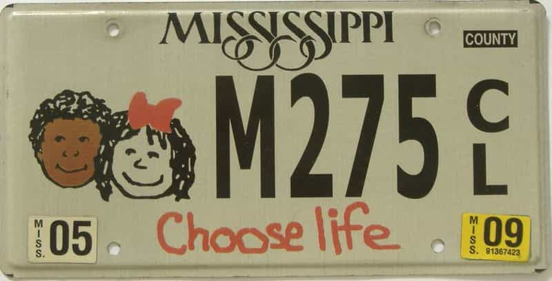 2009 Mississippi (Natural) license plate for sale