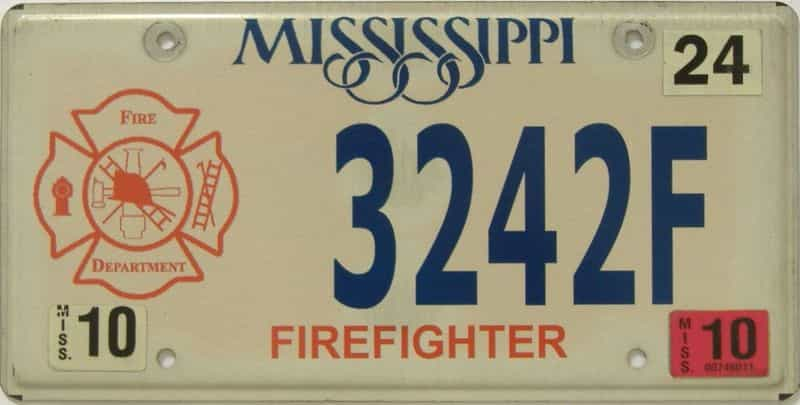 2010 Mississippi  (Natural) license plate for sale