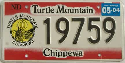 2004 North Dakota (Natural) license plate for sale