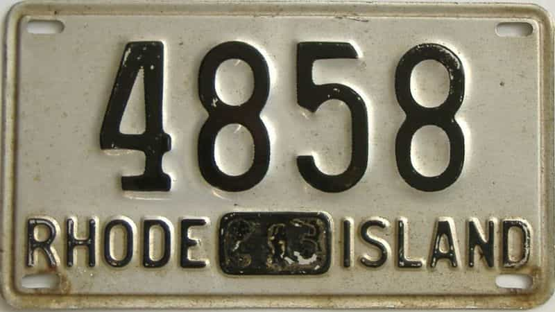 1945 RI license plate for sale