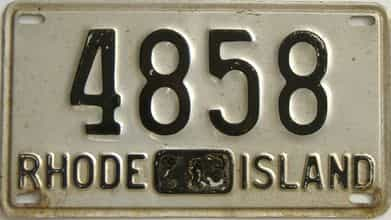 1945 Rhode Island license plate for sale