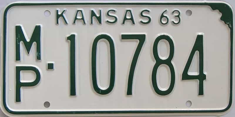 1963 Kansas license plate for sale