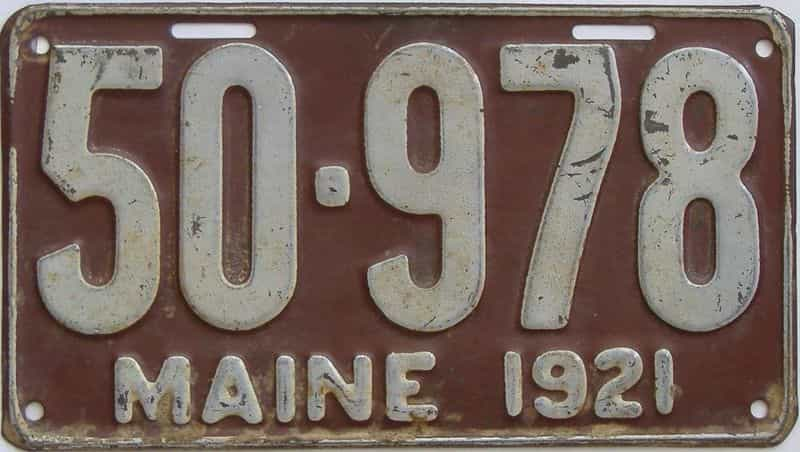 1921 ME (Single) license plate for sale