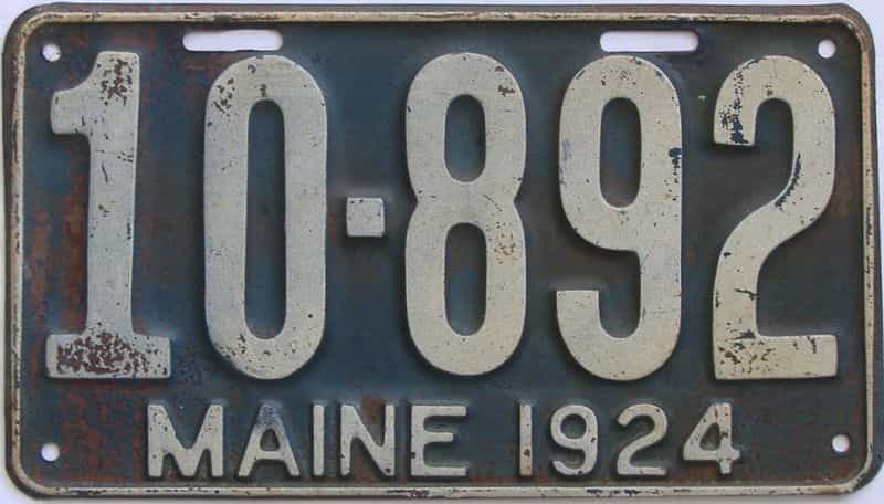1924 Maine (Single) license plate for sale
