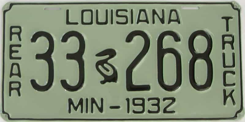 RESTORED 1932 Louisiana  (Truck) license plate for sale