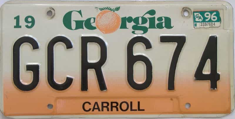 GC license plate for sale