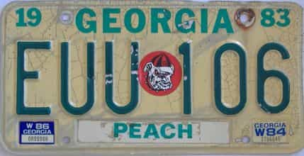 YOM  Georgia Counties license plate for sale