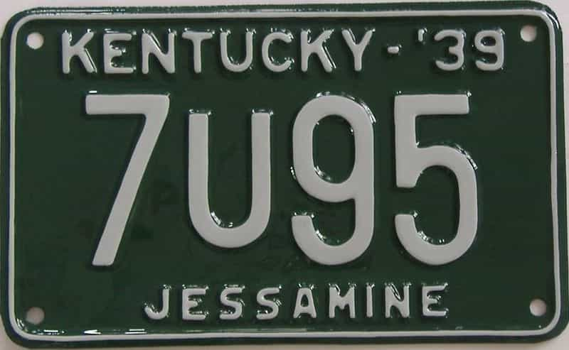 RESTORED 1939 Kentucky license plate for sale
