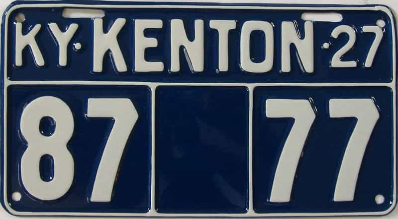 RESTORED 1927 Kentucky license plate for sale