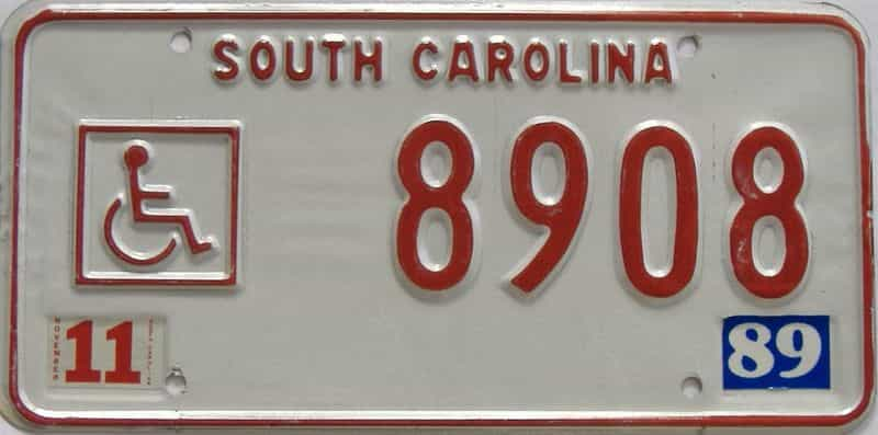 1989 South Carolina license plate for sale