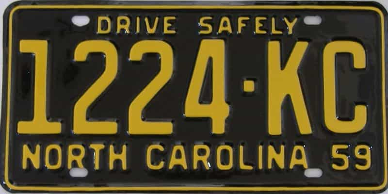 RESTORED 1959 North Carolina  (Truck) license plate for sale