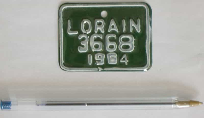 1964 Ohio license plate for sale