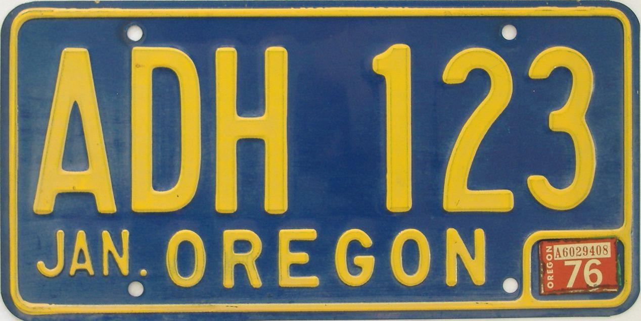 1976 Oregon (Natural Single) license plate for sale