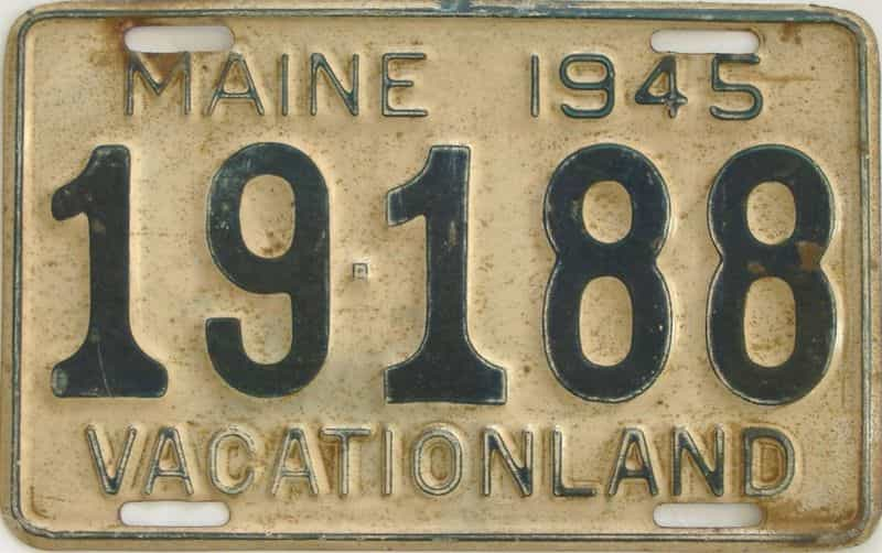 1945 Maine license plate for sale