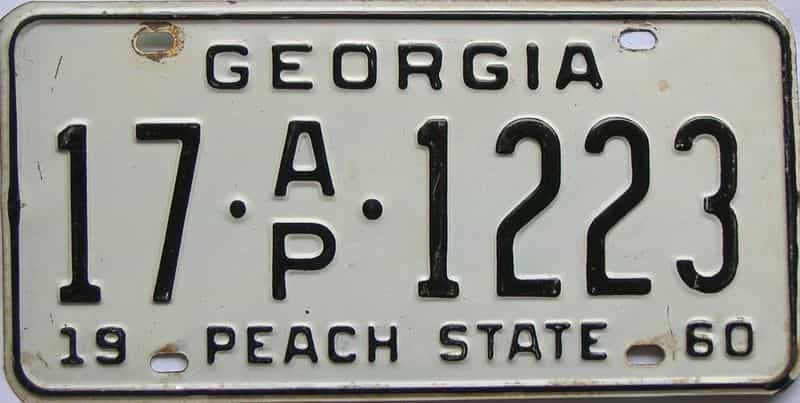 YOM 1960 Georgia (Colquitt) (Truck) license plate for sale