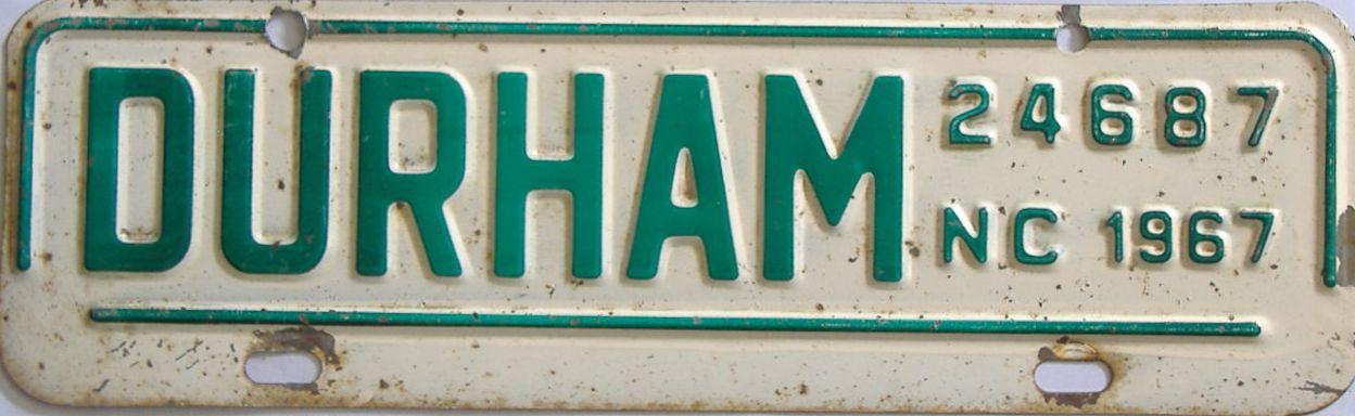 1967 North Carolina (Non Passenger) license plate for sale