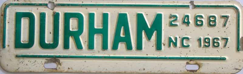 1967 NC (Non Passenger) license plate for sale