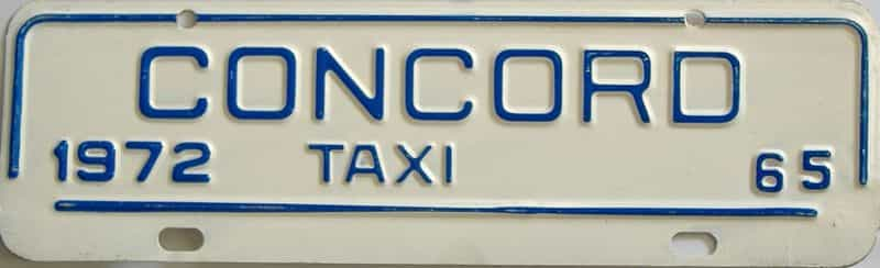 1972 NC (Non Passenger) license plate for sale