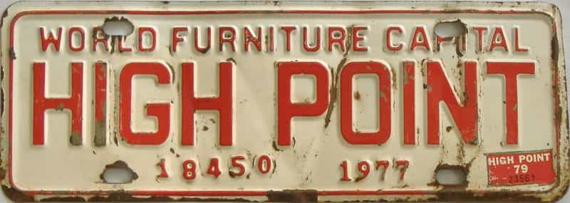 1977 NC (Non Passenger) license plate for sale