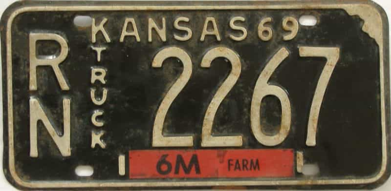 1969 Kansas (Truck) license plate for sale