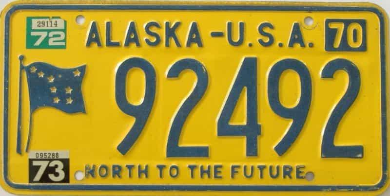 1973 AK (Single) license plate for sale