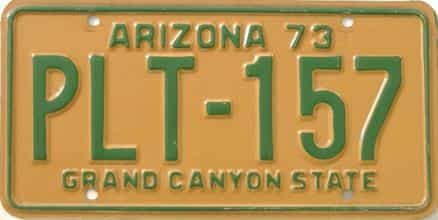 1973 Arizona (Single) license plate for sale