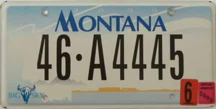 2005 Montana (Single) license plate for sale