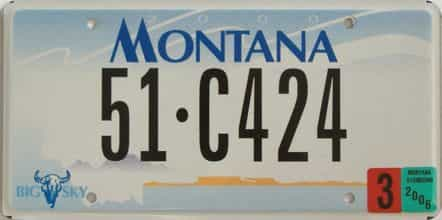 2006 Montana (Single) license plate for sale