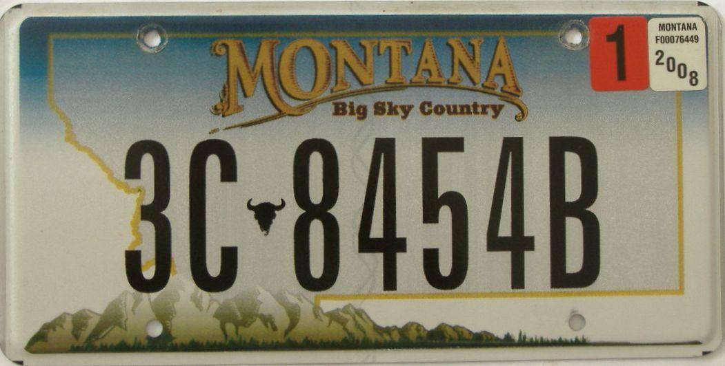 2008 Montana (Single) license plate for sale
