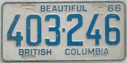 1966 CANADA (British Columbia)