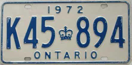 1972 CANADA (Ontario)