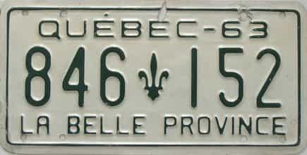 1963 CANADA (Quebec)