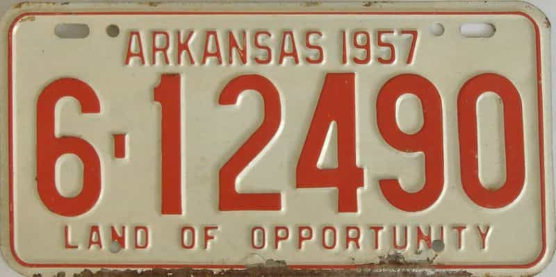 1957 AR license plate for sale