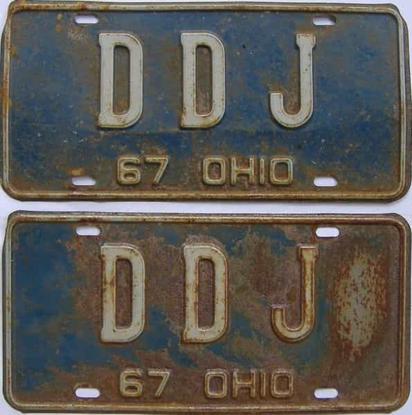 1967 Ohio  (Vanity) license plate for sale