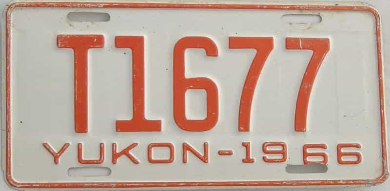 1966 CANADA (Yukon) license plate for sale