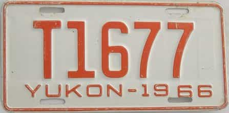 1966 Yukon (Single) license plate for sale
