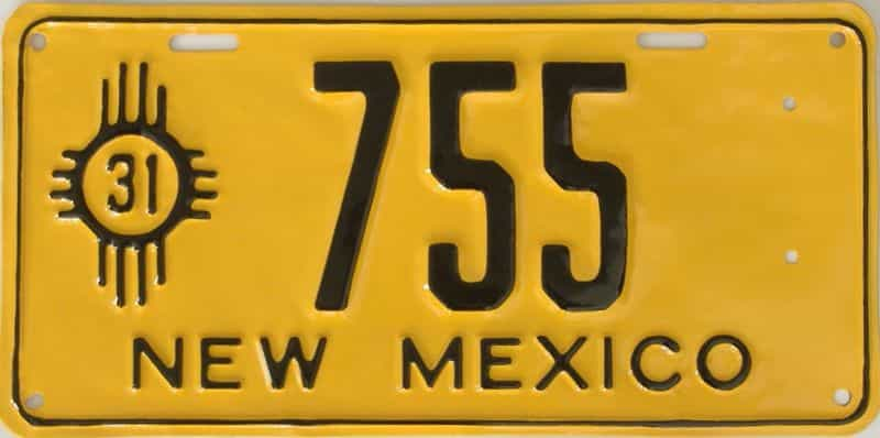 RESTORED 1931 NM (Single) license plate for sale