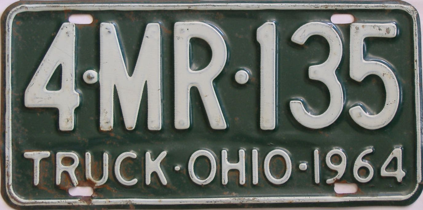 1964 Ohio (Truck) license plate for sale