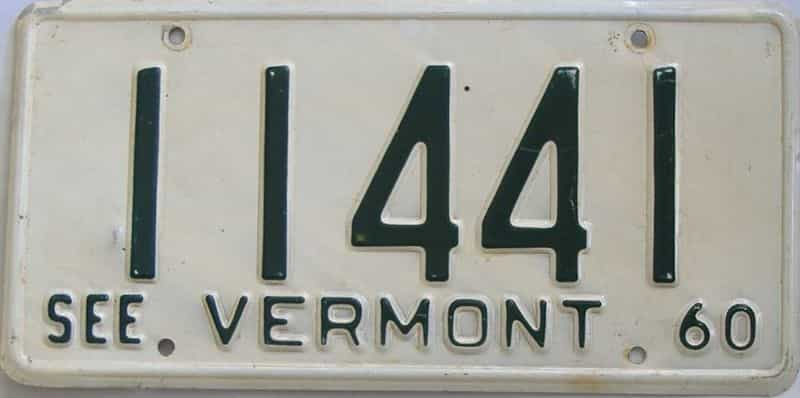 1960 VT (Single) license plate for sale