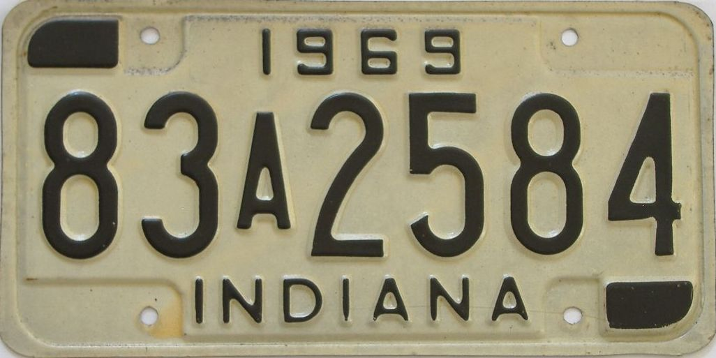 1969 Indiana license plate for sale