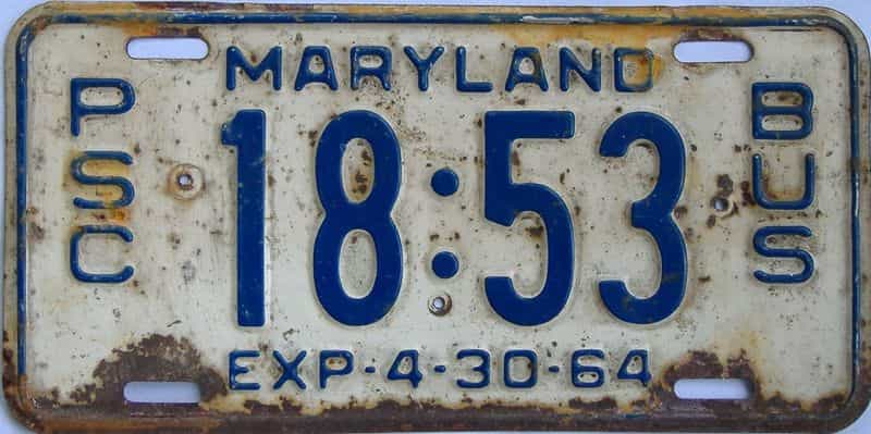 1964 Maryland license plate for sale