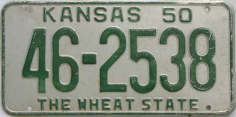 1950 KS license plate for sale