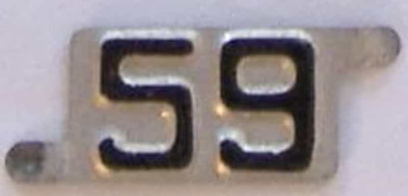 1959 Nebraska  (Single) license plate for sale